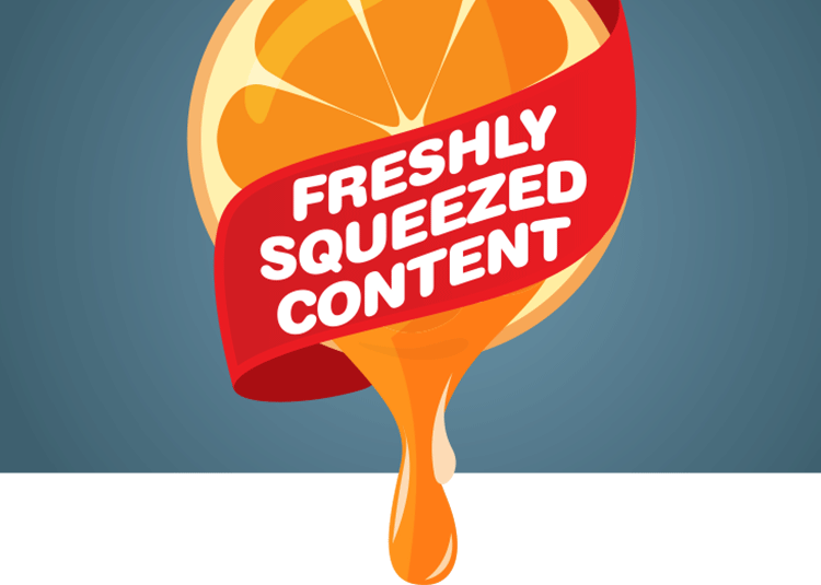 Fresh content image squeezed from an orange