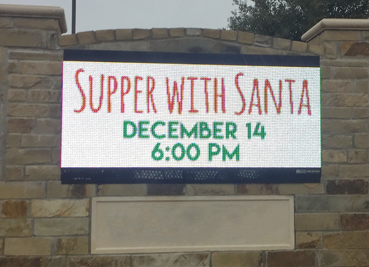 Holiday CTA with LED signs | Church Signs for Christmas