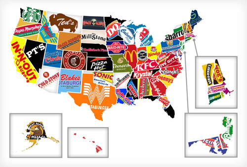 Restaurant LED sign mistakes | Big chain restaurants across the USA