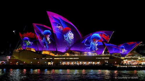 Developments in Digital Signage | Projection Mapping on Sydney Opera House
