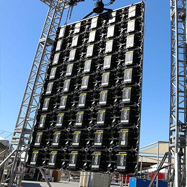 Giant LED Display Setup of batteries