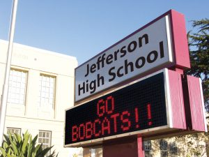 Jefferson High School Large LED Sign