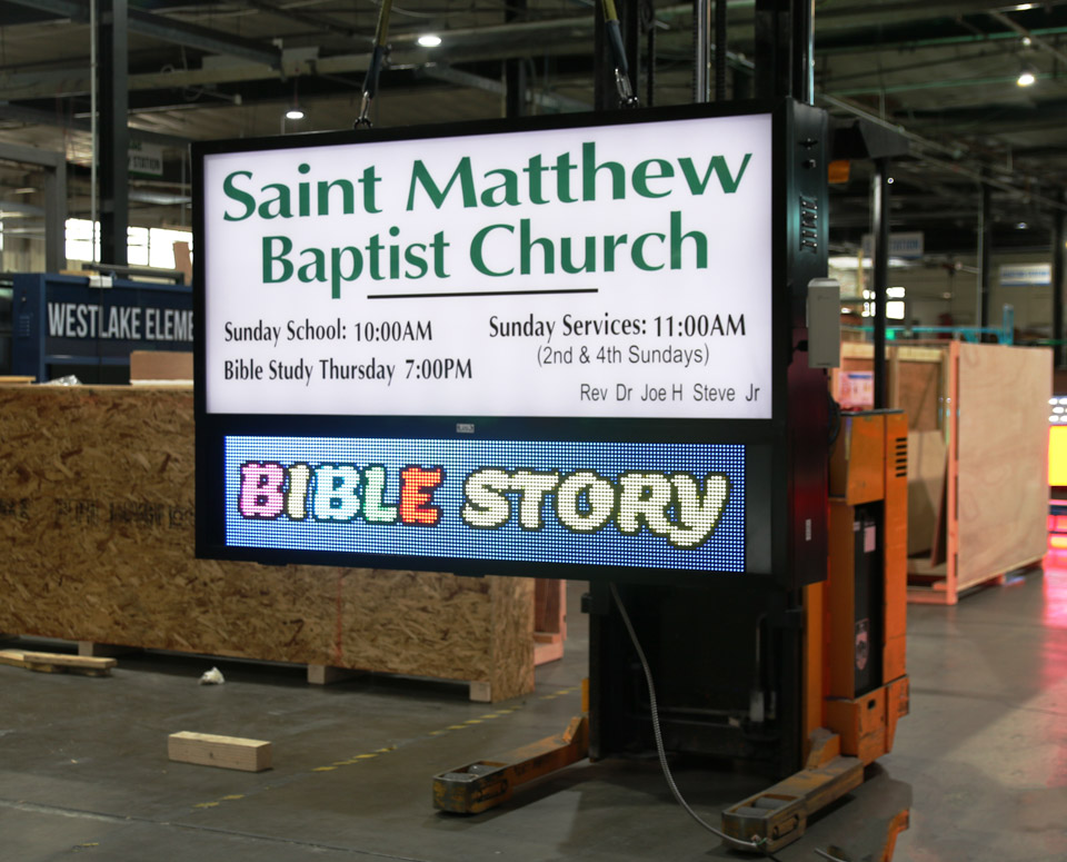 Saint Matthew Church LED sign
