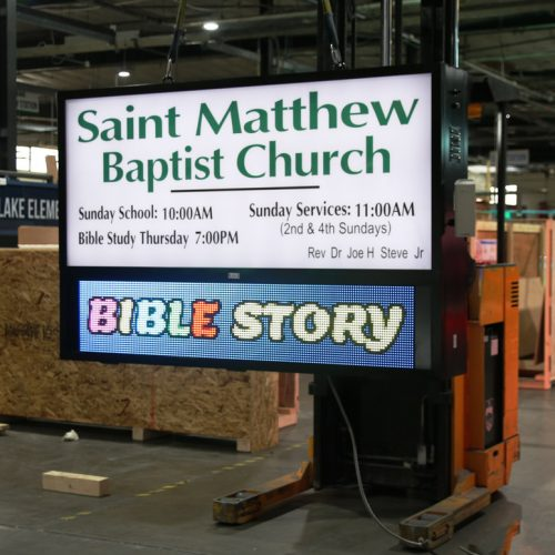 Saint Matthew Church LED sign