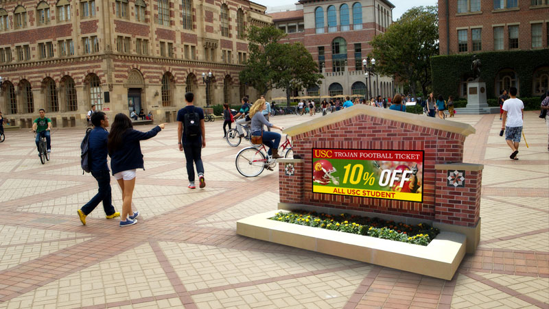 USC School LED Sign in foyer