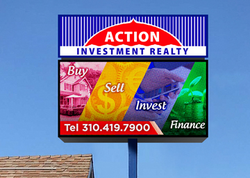 Action Investment after an LED sign Upgrade