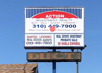 Action Investment with an outdated static sign