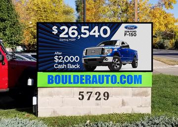 Boulder Auto LED sign upgrade
