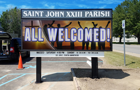 Saint John Church LED Sign