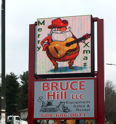 Bruce Hill Business LED sign