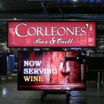 Corleones Bar and Grill Custom LED sign