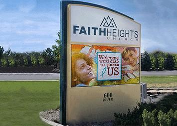 Faith Heights Church Monument LED Sign