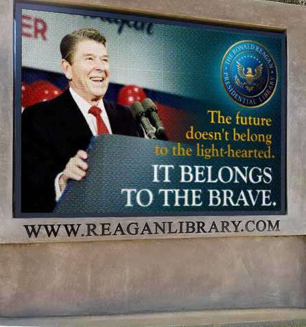 Ronald Reagan Full Color LED sign