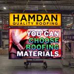 Hamdan Quality Roofing Custom LED sign