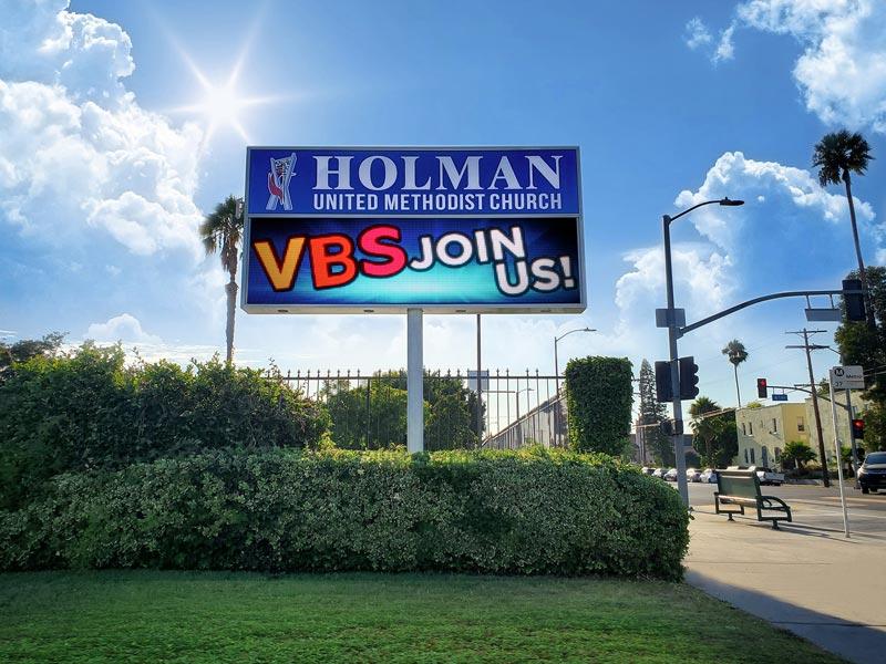 Holman United Methodist Church LED sign