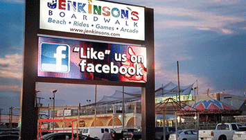 Jenkinsons Boardwalk Commercial Sign