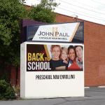 John Paul Catholic Church Custom LED sign