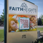 Omega Faith Heights LED commercial sign