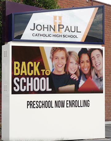 Omega John Paul LED sign