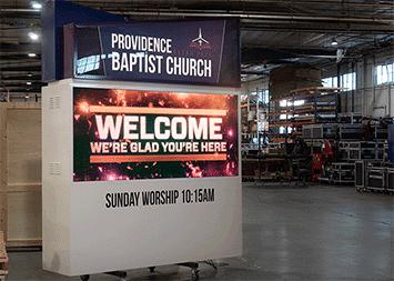 Providence Baptist Church LED Monument Sign
