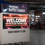 Providence Baptist Church Custom LED Sign