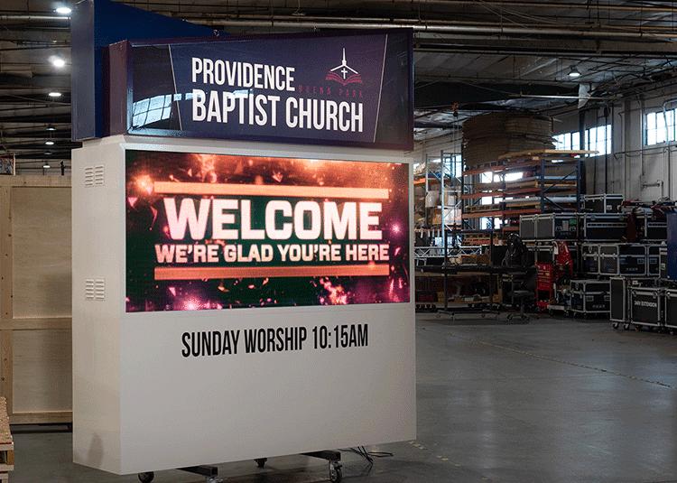 Providence Baptist Digital Church signs