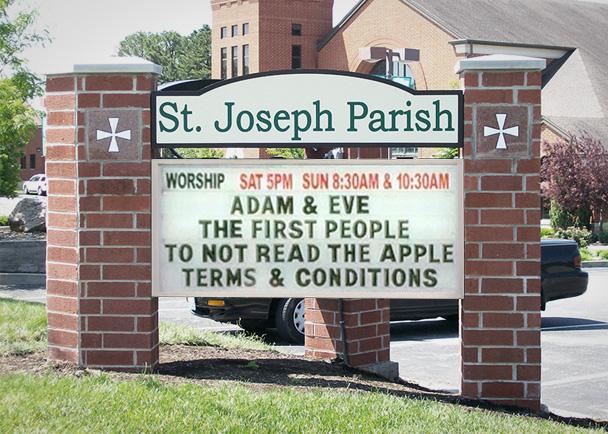St Joseph Parish Before Church LED signs