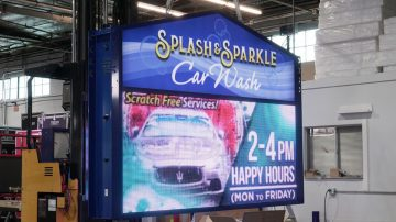 Splash and Sparkle Custom LED sign