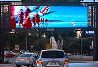 Digital Billboard of Virgin Airlines over a freeway