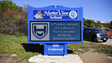 Harbor View School Digital School Sign