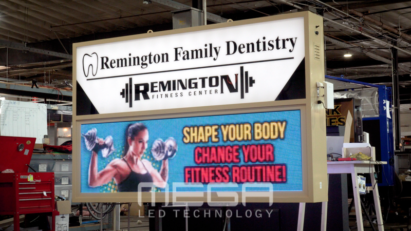 Remington Family Dentistry LED sign board