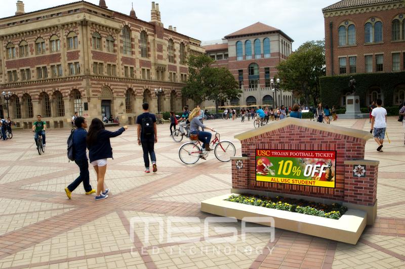 USC School LED sign board