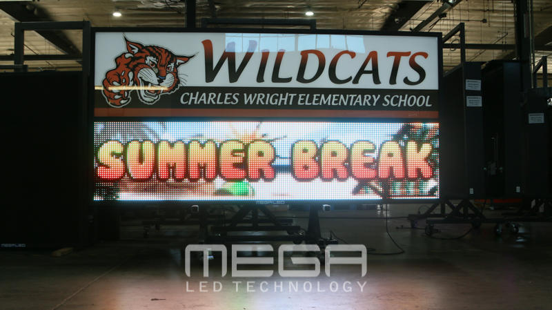 Wildcats Elementary LED Sign board