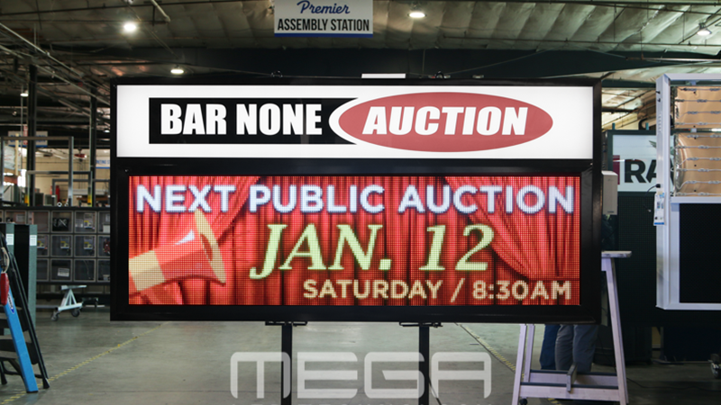 Bar None Auction Digital Sign