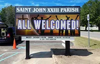 All Church LED sign