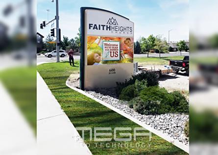 Faith Heights Church Monument Sign for outside