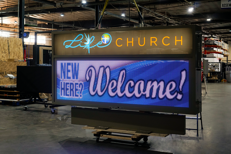 Life Church Digital Church Sign