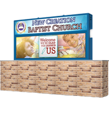 Brick Base for Church LED signs