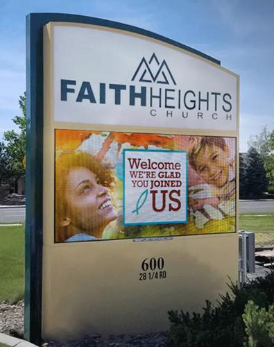 Faith Heights Church LED sign final product