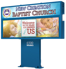 Pedestal Mount for Church LED signs