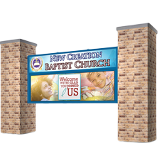 Pillar Mount for Church LED signs