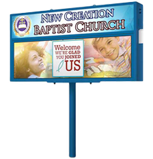 Pole Mount for Church LED Signs
