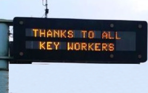 Thank you Essential Workers LED Digital Signage
