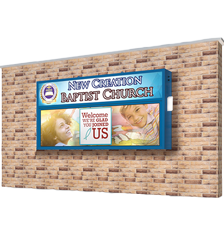 Wall Mount for Church LED signs