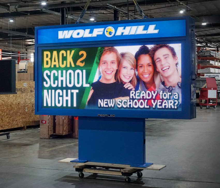 Wolf Hill School Alpha LED Sign board