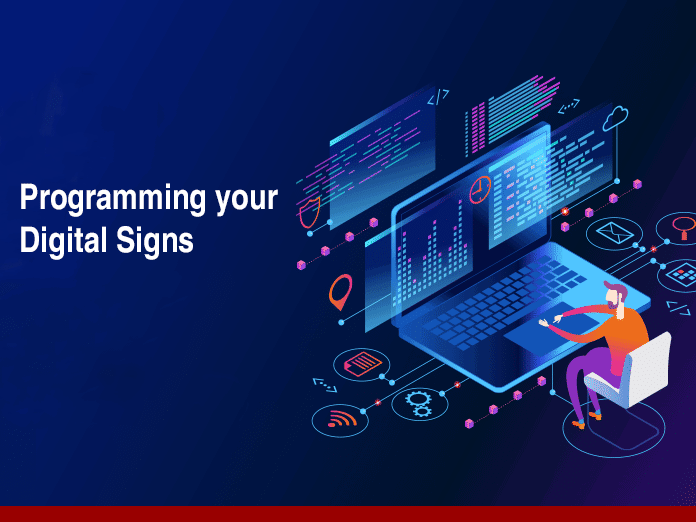 Man Programming Digital Signs