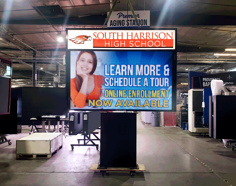 South Harrison School LED sign board