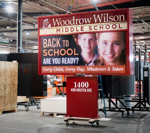 Woodrow Wilson Middle School Digital School Sign