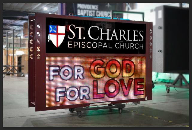 St Charles Digital Church LED sign
