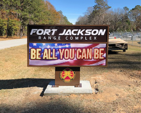 Fort Jackson LED Sign Board